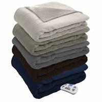 Serta Silky Plush Electric Heated Warming Blanket Digital