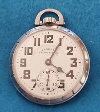 Vintage 16 Size Hamilton Grade 992B Running Pocket Watch – IE080