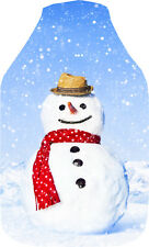 Vagabond Snowman Photo Print Deluxe Fleece Hot Water Bottle