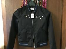 NWT COACH CITY SKY CROPPED BLACK LEATHER WOMEN'S JACKET SIZE SMALL 38600