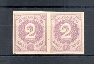 DUTCH WEST INDIES-CURACAO-1889 -2 Ct # 14 -PAIR --PROOF (*) CHOSEN COLOUR VF @2