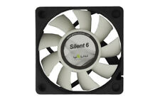 Gelid Silent6 Black/White 60mm Case Fan (FN-SX06-38) - NEW - USA Seller