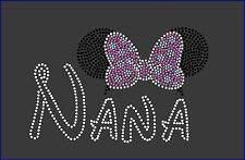 Disney Nana With Ears Rhinestone Iron On Transfer Hot Fix Bling