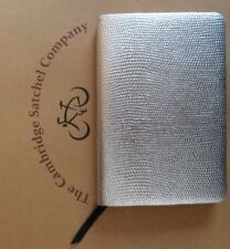 The Cambridge Satchel Company Metalic SILVER Leather Pocket Notebook / Journal