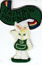 Girl Guide Badge RAINBOW FRIENDS green Tabard