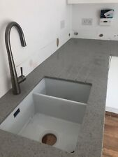 Grey Luminisio Quartz Kitchen Worktop   All colours available   Affordabl