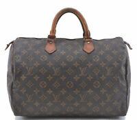 Authentic Louis Vuitton Monogram Speedy 35 Hand Bag M41524 LV C1659