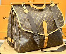 """LOUIS VUITTON France Monogram 18"""" Xl Travel Duffle Shoulder Messenger Bag"""