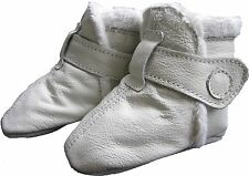 carozoo booties white 6-12m soft sole leather baby shoes