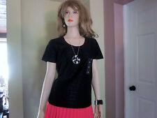 3 Jaclyn Smith Girls women T-Shirts M= 2 (J7)  Black and 1 (J6)  Dark Blue