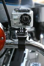 Motorcycle Camera Mount for GoPro Video Cameras- Handle Bar or Crash Bar Mount