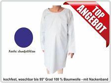 Krankenhemd, Pflegehemd, Nachthemd, Flügelhemd fuer Erwachsene, Farbe:dunkelblau