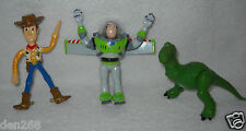 #9201 New Displayed Thinkway Original Toy Story Bendable Woody, Buzz & Rex