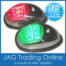 LED STAINLESS STEEL Navigation Lights Port/Starboard USCG/COLREGS-Marine/Boat SS