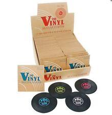 """SET OF FOUR 'THE VINYL' SILICONE COASTERS 3.5"""" RETRO VINYL RECORD STYLE"""