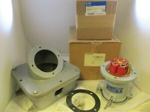 CROUSE HINDS CDR20044RS 200A 4W 4P REVERSE SERVICE RECEPTACLE W/ 200A BACK BOX