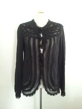 Boho Chic! Twin-Set size M black cotton & silk long sleeve top