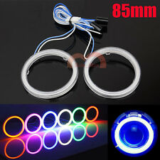 2pcs 85mm Car Motorcycle Headlight Cob Angel Eyes Light LED Halo Rings Lamp DRL