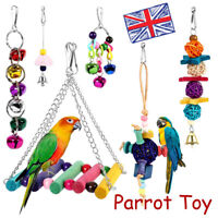 6PC Metal Rope Small Parrot Toys Ladder Stand Budgie Cockatiel Cage Bird Toy Set