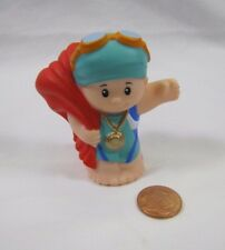 New Fisher Price Little People SWIMMING SWIMMER BOY Champion Olympics Olympian