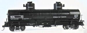 HOn3 PSC The Texas Co 2 Dome Tank Car Brass  Custom or Factory Paint *Excellent*