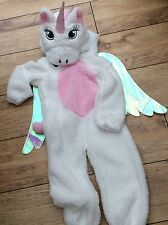 Girls Unicorn All in One Costume with Wings Dress Up Complete Outfit Age 5/6 ys