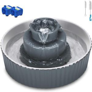 Cupcake Cat Water Fountain Porcelain, Pet Water Fountain For Dog And Cat, 2 Wate