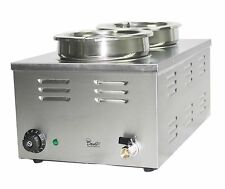 More details for davlex electric bain marie two 2 large round pots pans soup food sauce warmer