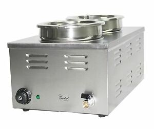 Davlex electric Bain Marie 2 large round pots two pans 24 litre tank food warmer