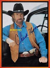 CHUCK NORRIS 8X10 AUTHENTIC IN PERSON SIGNED AUTOGRAPH REPRINT PHOTO RP
