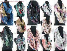 lot of 6 vintage flower 2-loop infinity scarf Wholesale Fashion Scarves