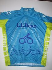 VOmax L.L.Bean Outdoor Discovery Blue Yellow Cycling Jersey NEW Men's 2XL  ARF
