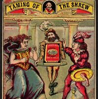 Shakespeare 1880's Taming of the Shrew Kate Libby Meat Advertising Trade Card