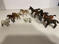 Schleich Collection Of 10 Foals Mostly Retired