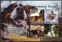 Antigua & Barbuda Working Dogs Stamps 2020 MNH Sled Guide Police Dog 4v M/S