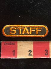 "3"" Orange On Brown STAFF Patch - Tab Patch 00Z2"
