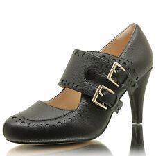 Clarks Ladies Dalia Violet Black Leather Mary Jane Court Shoes Size UK 4/37 D