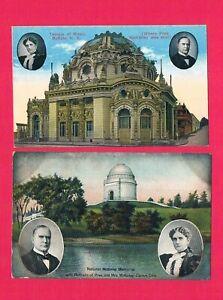 National McKinley Memorial Canton,Ohio & Temple of Music Buffalo, N.Y. Portraits
