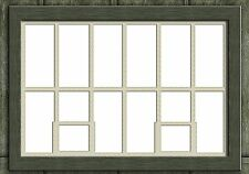 LC05a - Lasercut Large Shed Windows with Fanlight OO scale pk of 6 Smart Models