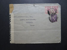 Great Britain 1942 Censor Cover / N Atlantic Route / BH Perfins - Z11528