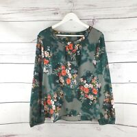 Laura Ashley Laidies Green Floral Long Sleeve Blouse Top Size 18