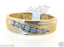Men's Diamond Ring Band, 0.25CT, 10K Yellow Gold, Size 10.25, NEW