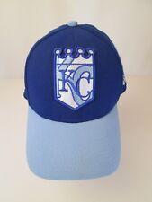 KC Kansas City Royals Hat Cap Fitted Sz M-L  Blue and  Light Blue MLB