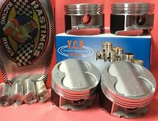 YCP B16 B18 B20 85mm Oversize High Compression Pistons and Rings Set Honda Acura