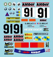 1/10 BMW 2002 1975 GTS LE MANS Decal Sticker for Tamiya F103 F104W RC Car Body