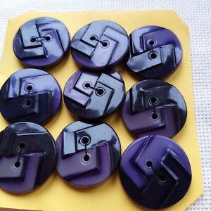 boutons anciens en célluloïd  de 3,2 cm