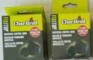 GENUINE OEM Char-Broil Universal Fit Grill Control Knobs Lot of 2 LT5-25