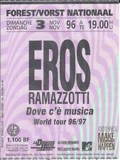 Ticket Concert: Eros Ramazzotti (3/11/1996) Forest National Bruxelles