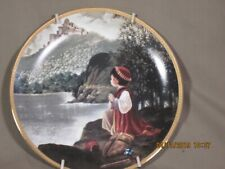 """Precious Moments Bible Story Collectible Plates """"A prayer for victory"""" w/frame"""