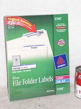 SEALED Avery 5766 Blue File Folder Labels TrueBlock 1500 Label for Inkjet Laser